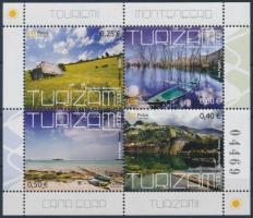Turizmus bélyegfüzetlap Tourism stamp-booklet sheet