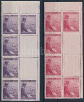 Böhmen und Mähren 1943 Hitler ívsarki nyolcastömb 2-2 függőleges üresmezővel Mi 126-127