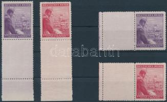 Böhmen und Mähren 1943 Hitler 2 sor ívszéli alsó-, baloldali üresmezővel Mi 126-127
