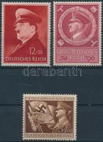 1941-1944 Hitler 3 klf bélyeg Mi 772, 865, 887