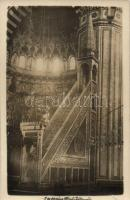 Constantinople, Istanbul; Mosque of Sultan Mehmed, interior, photo