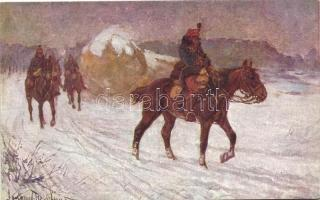 WWI Hungarian soldiers s: Lengyel-Reinfuss, Előörsön, Honvédelmi Ministerium Hadsegélyező Hivatal által kiadott, s: Lengyel-Reinfuss