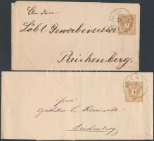 1885 2 db futott díjjegyes címszalag