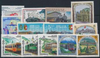 1993-2002 Railway 13 stamps, 1993-2002 Vasút motívum 13 db. bélyeg