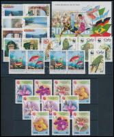 27 stamps, 1 block, 27 db bélyeg, 1 db blokk 2 stecklapon