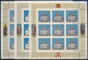 1992 Kreml templomai kisív sor Mi 263-265