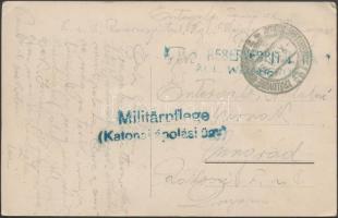 1915 Képeslap tábori kórházból K.u.k. RESERVESPITAL KGL. WEINBERGE