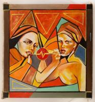 Olvashatatlan jelzéssel: Rúzs (Való Világ). Olaj, vászon, 95×90 cm