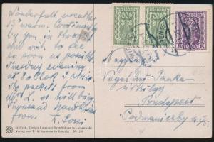 Postcard with inflation franking, Képeslap inflációs bérmentesítéssel