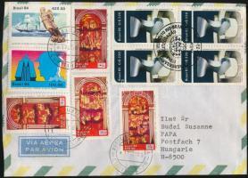 Cover to Hungary, Légi levél Pápára