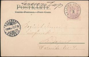 1899 Litho képeslap BALATON-FÜRED / FÜRDŐ