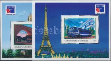 1999 Nemzetközi Bélyegkiállítás PHILEXFRANCE 99, Párizs blokksor Mi 385-386