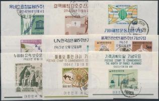 South Korea 1961-1965 9 blocks, Dél Korea 1961-1965 9 klf blokk