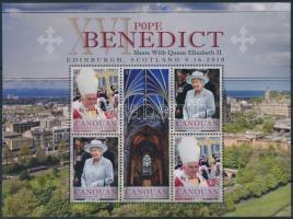 2010 Pápai látogatás kisív Mi 99-101
