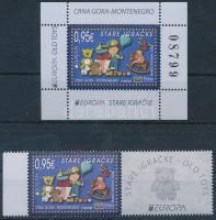 Europa CEPT, Történelmi játékok ívszéli szelvényes bélyeg + blokk Europa CEPT, Historical Games margin stamp + block