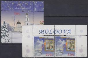 2010 Karácsony és Újév ívsarki pár Mi 727 + blokk Mi 52
