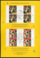 2006 Karácsony sor négyestömbökben Mi 2569-2570 Német Posta ünnepi emléklapján