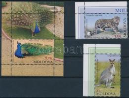 2013 Állatkerti állatok ívsarki sor Mi 831-832 + blokk Mi 63