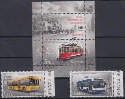 2013 Tömegközlekedés ívszéli sor Mi 850-851 + blokk Mi 65