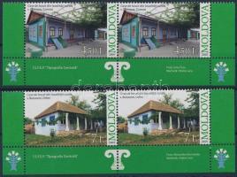 2009 Falusi épületek záróérték párokban Mi 674-675