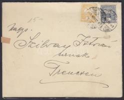 1913 Gyászjelentés 1f + 2f bérmentesítéssel