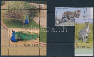2013 Állatkerti állatok ívszéli sor Mi 831-832 + blokk Mi 63