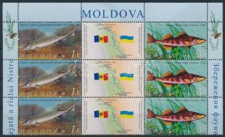 2007 Dnyeszteri állatvilág védelme ívsarki szelvényes 6-os tömb Mi 595-596