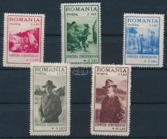 1931 Cserkész sor Mi 413-417 (rozsda pöttyök az 1L, 4L és 6L értéken)