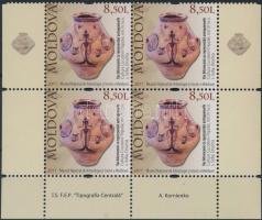 2011 Régészeti leletek záróérték ívsarki négyes tömbben Mi 731 Ss
