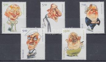 2001 Norvég színészek sor Mi 1394-1398