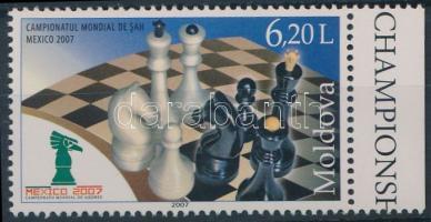 2007 Sakk Világbajnokság ívszéli bélyeg Mi 601