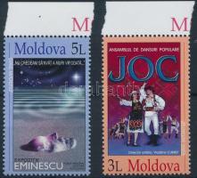 2003 Europa CEPT, Plakát művészet ívszéli sor Mi 463-464