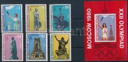 1980 Olimpia Mi 2894-2899 + blokk 103