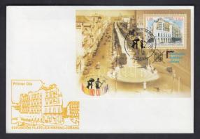 Spain-Cuba International Stamp Exhibition, Havana block FDC, Spanyolország-Kuba Nemzetközi bélyegkiállítás, Havanna blokk 1 db FDC