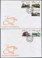 Multi-modal transport system set 2 FDC, Multimodális közlekedési rendszer sor 2 db FDC-n