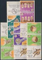 1966 Távközlés ívszéli sor hármascsíkokban Mi 1190-1195