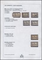 Baranya I. 1919 8 db Parlament 5K, közte antikva, lemezhibák, minden érték Bodor vizsgálójellel (18.000)