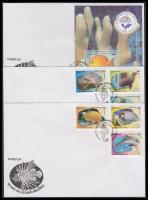 2010 50 éves a Nemzeti akvárium sor Mi 5346-5351 + blokk Mi 273 3 db FDC-n