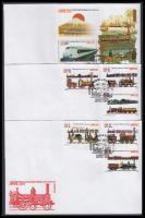 2011 Nemzetközi bélyegkiállítás Philanippon sor Mi 5501-5506 + blokk Mi 285 3 db FDC-n