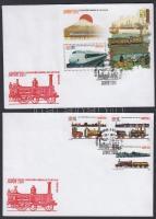 International Stamp Exhibition Philanippon 3 stamps from set + block on 2 FDC, Nemzetközi bélyegkiállítás Philanippon sor 3 értéke + blokk 2 db FDC-n