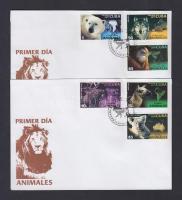 Animals set on 2 FDC, Állatok az egész világon sor 2 db FDC-n