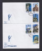 Havannai látnivalók sor 2 db FDC-n, Havana attractions set on 2 FDC