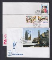 2007-2011 8 db FDC, 2007-2011 8 FDC