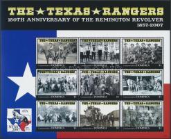 Texas Rangers mini sheet, Texas Rangers kisív