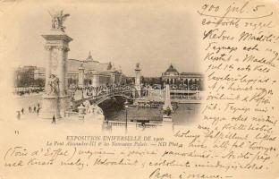 Paris World Expo 1900, Pont Alexandre III and the Grand Palais, Párizs Világkiállítás 1900, a Pont Alexandre III és a Grand Palais