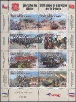 200th anniversary of National Armed Forces mini sheet, 200 éves a Nemzeti Fegyveres erők kisív