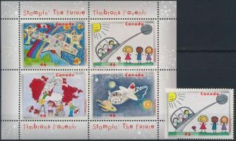 Drawing Contest stamp + block, Rajzverseny bélyeg + blokk