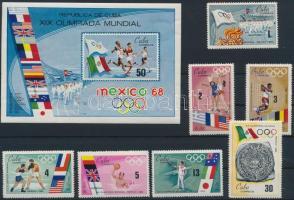 Summer Olympics, Mexico set + block, Nyári olimpia, Mexikó sor + blokk
