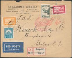 1930 Ajánlott légi levél Berlinbe