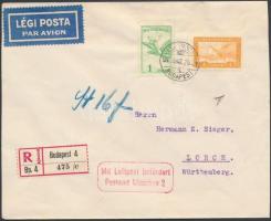 1930 Ajánlott légi levél Németországba